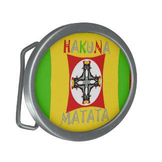 Groen van de Kleur van Matata Rasta van Hakuna Gesp