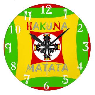 Groen van de Kleur van Matata Rasta van Hakuna Grote Klok