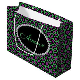 Groen & van de Luipaard Purp de Zak van de Gift Groot Cadeauzakje