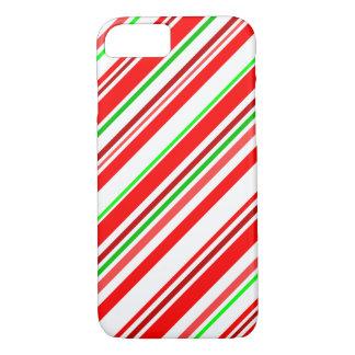 Groen van Kerstmis van de Strepen van het Riet van iPhone 8/7 Hoesje