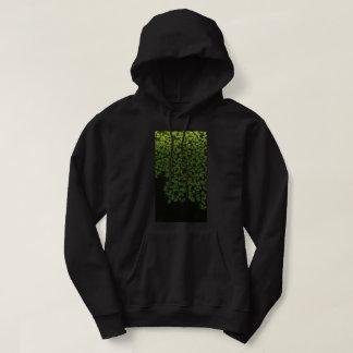 groen vleksweatshirt met een kap hoodie