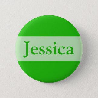 groen voeg uw naam toe ronde button 5,7 cm
