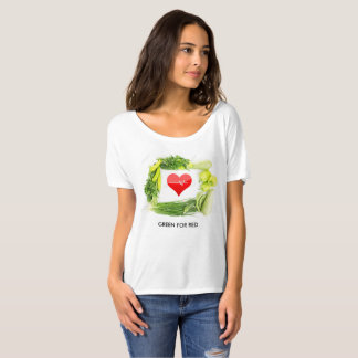 Groen voor rood, voer uw gezondheid op t shirt