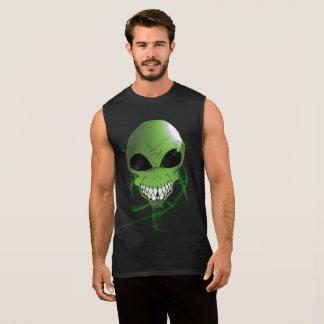 Groen vreemd Katoenen van het Mannen UltraMouwloos T Shirt