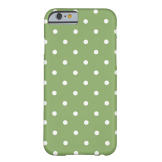 Groen & Witte stip Barely There iPhone 6 Hoesje