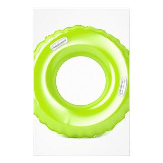 Groen zwem ring briefpapier