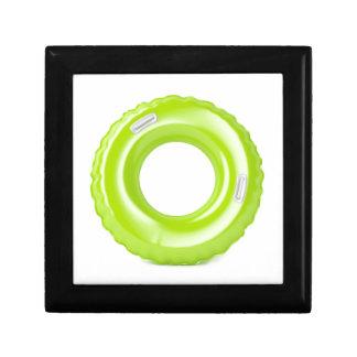 Groen zwem ring decoratiedoosje