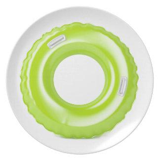 Groen zwem ring melamine+bord
