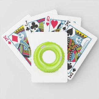Groen zwem ring pak kaarten