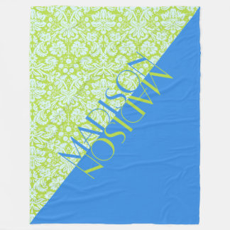 Groenachtig blauwe Limoen van de Mode van de Fleece Deken