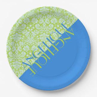 Groenachtig blauwe Limoen van de Mode van de Papieren Bordje
