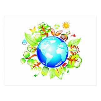Groene Aarde Eco Vriendschappelijk voor de Dag van Briefkaart