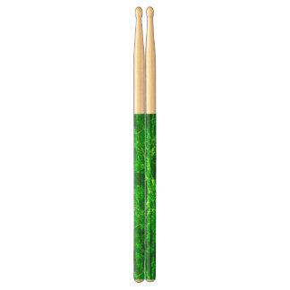 groene abstracte trommelstokken drumstokkies    0
