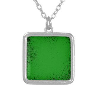 Groene Achtergrond Grunge Zilver Vergulden Ketting