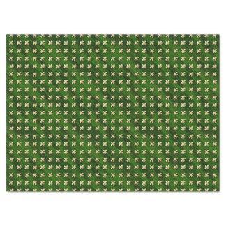 Groene Achtergrond met Gold Fleur DE Lis 43,18 X 58,42 Cm Tissue Papier