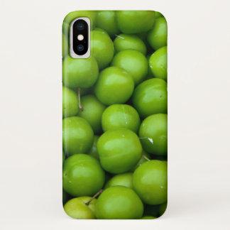 Groene Appelen bij het Patroon van de Markt van iPhone X Hoesje