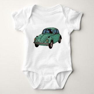 Groene Auto, Retro Auto, Leuke Baby Jersey van de Romper