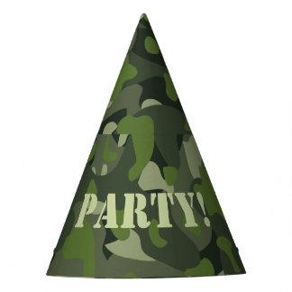 Groene berg vernietigende camouflage feesthoedjes