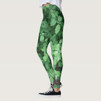 Groene bladbeenkappen leggings
