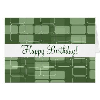 """Groene Blokken de """"Kaart van de Verjaardag """" Kaart"""