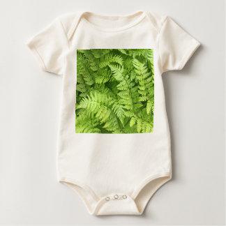 Groene Bodysuit van het Baby van de Varen