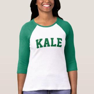 Groene BOERENKOOL Universitaire Bella 3/4 Raglan T Shirt