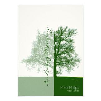 Groene Boom 2 Viering van de HerdenkingsDienst van 12,7x17,8 Uitnodiging Kaart