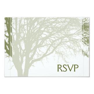 Groene Boom van de Bar mitswa RSVP van het Leven 8,9x12,7 Uitnodiging Kaart