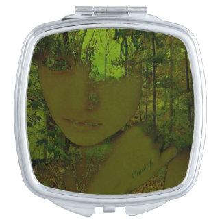 Groene Bos Compacte Spiegel Make-up Spiegeltjes