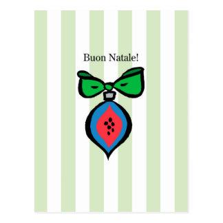 Groene Briefkaart van het Ornament van Natale van