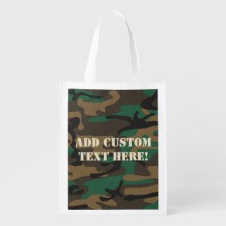 Groene Bruine Militaire Camouflage Camo Boodschappentas