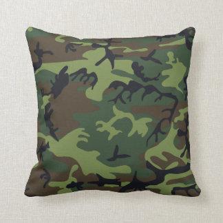 Groene, Bruine, Zwarte Camouflage Camo Sierkussen