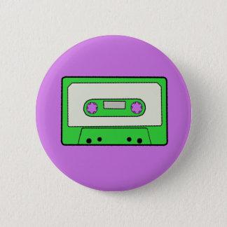 Groene Cassette Ronde Button 5,7 Cm