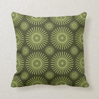 Groene cirkelbloemen sierkussen