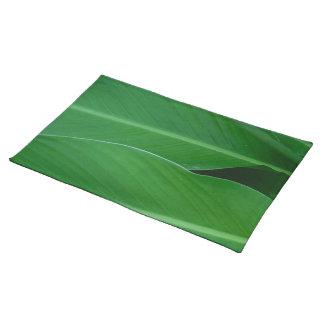 Groene de bladerenfoto van de cannalelie placemat