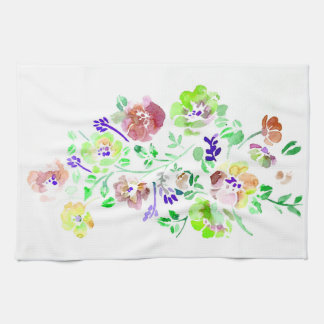 Groene de Handdoek van de Bloemen van de Kleur van