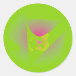 Groene de Klaver van vier Blad Ronde Sticker