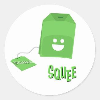 Groene de squee-Zak van de Thee Sticker