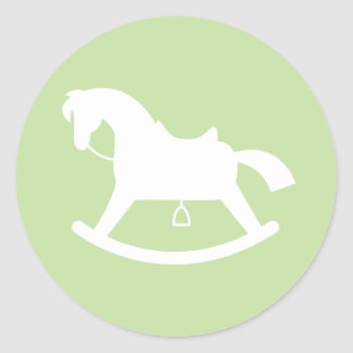 Groene de Sticker van het Baby shower van het