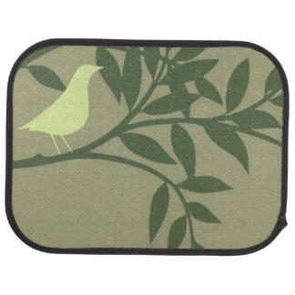 Groene die Vogel op Groene Tak wordt neergestreken Automat