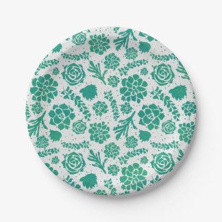 Groene Elegante Botanisch van Succulents van de Papieren Bordje