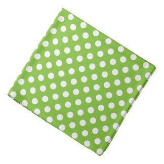 Groene en Witte Stippen Bandana