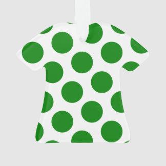 Groene en Witte Stippen met twee kanten Ornament