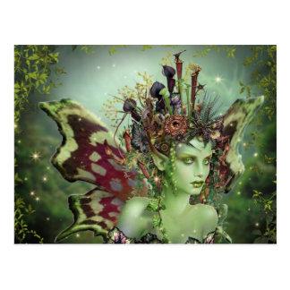 Groene Faerie Briefkaart