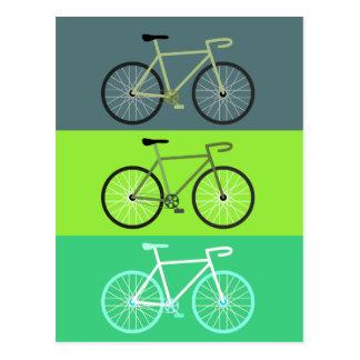 Groene fietsen - briefkaart