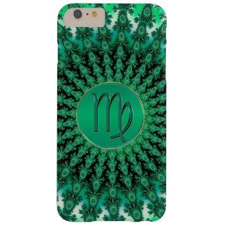 Groene Fractal Mandala van de Maagd van het Teken Barely There iPhone 6 Plus Hoesje