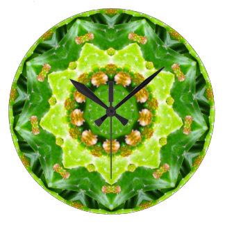 Groene Fractal van Spikey Succulant Grote Klok