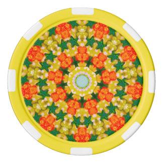Groene Fractal van Sterren Pokerchips