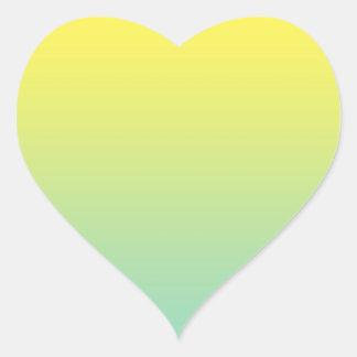Groene & Gele Ombre Hart Sticker