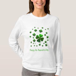 Groene gelukkige klavers t shirt